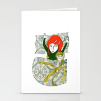 tina crespo Stationery Cards featuring Tina&Ape by eva vasari