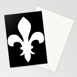 Fleur de Lis (White & Black) Stationery Cards