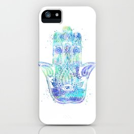 Watercolor Hamsa Hand iPhone Case
