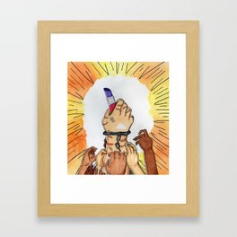 Transgender Inmates' Right to Makeup Framed Art Print