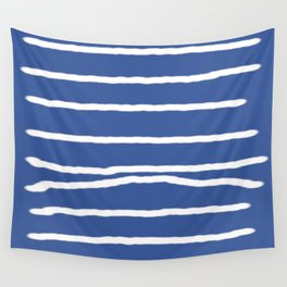 White stripes Wall Tapestry