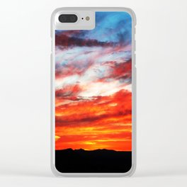 Sunset over Wichita Mountains Clear iPhone Case