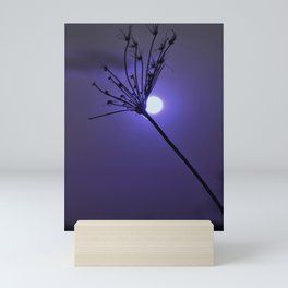 Silhouette On Blue Mini Art Print
