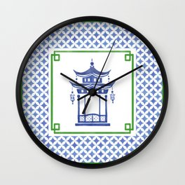 Chinoiserie - Le Pavillon 1 Wall Clock
