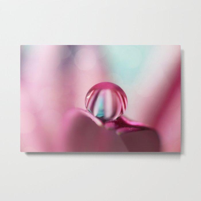 Candy Stripe Drop Metal Print