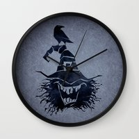witch Wall Clocks featuring witch by Erdogan Ulker