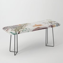 Enchanted Forest Chinoiserie Bench