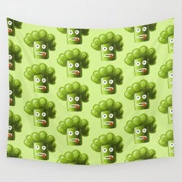 Stressed Out Broccoli Wall Tapestry