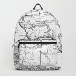Vintage Map of Texas (1856) BW Backpack