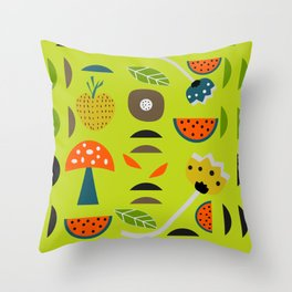 Modern decor with fruits and flowers Throw Pillow