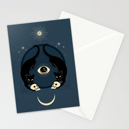 Midnight Cats Doing Their Dark Business Stationery Cards