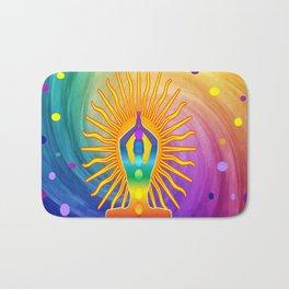 COLORFUL Om Meditation Mantra Chanting DESIGN Bath Mat