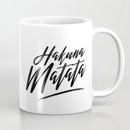 Hakuna Matata (Black on White) Coffee Mug