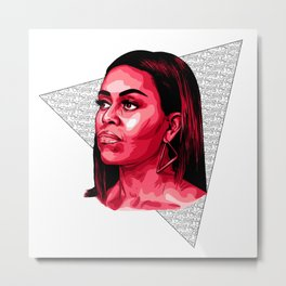 POC - Michelle Obama Too Metal Print