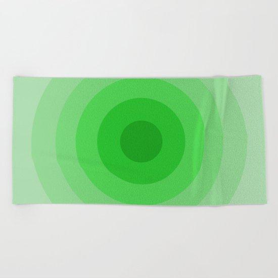 Shades Of Green Beach Towel