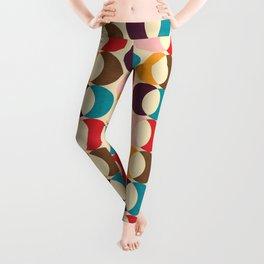 Mid Century Modern Circles Leggings
