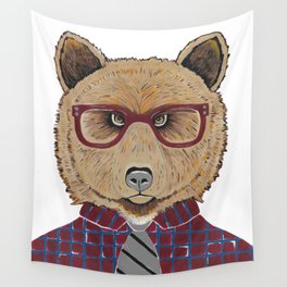 Mr Bear Wall Tapestry
