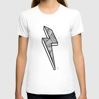 lightning T-shirts featuring Lightning by Amber Lily Fryer