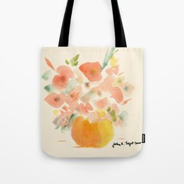 Gorgeous Poppies by artist John E. Tote Bag