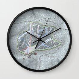 Mt Lemmon Resort Trail Map Wall Clock