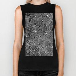 Abstract fancy grey black white design Biker Tank