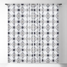 Geometric Pattern. Circles and Rhombuses Blackout Curtain