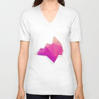 polygon V-neck T-shirts featuring Polygon Soul by Favored Clothing