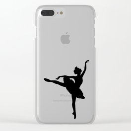 Ballerina silhouette (black) Clear iPhone Case