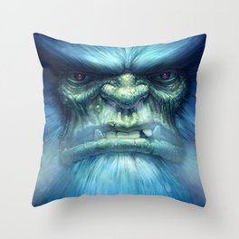 Abominable Snowman Throw Pillow