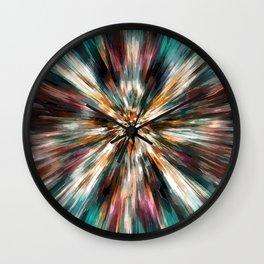 Earth Tones Tie Dye Wall Clock