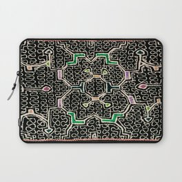 Song for Good Work - Traditional Shipibo Art - Indigenous Ayahuasca Patterns Laptop Sleeve