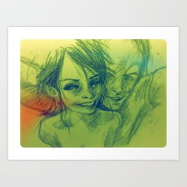 #besties Art Print