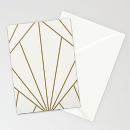 Diamond Series Sun Burst Gold on White Stationery Cards