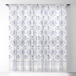 Petalwink Fairy Toile Sheer Curtain