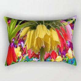 FANTASY ART YELLOW CROWN IMPERIAL FLOWERS Rectangular Pillow