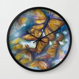 Shaded Wings Wall Clock