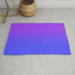 Neon Blue and Bright Neon Purpel Ombré Shade Color Fade Rug