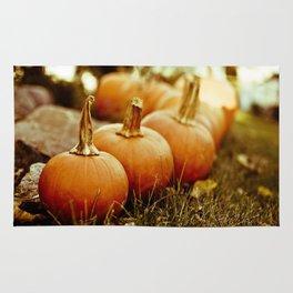 seven little pumpkins Rug