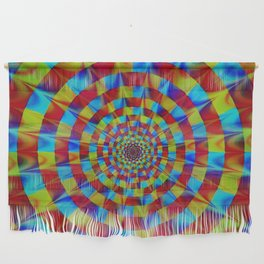 ZOOM #1 Vibrant Psychedelic Optical Illusion Wall Hanging
