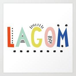 Lagom colors Art Print