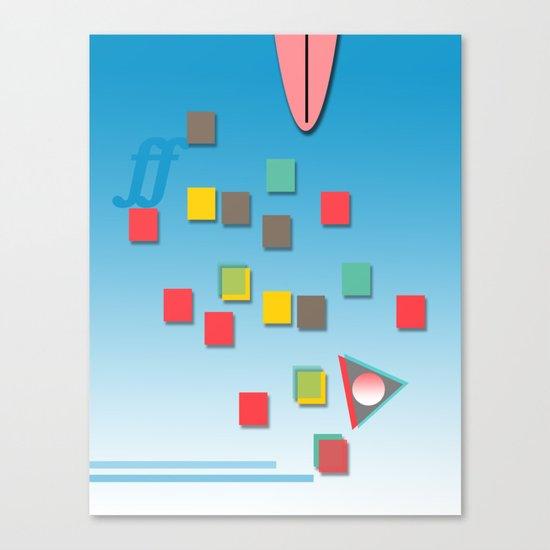 Surƒƒing Canvas Print