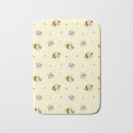 Pug Bee Pattern Bath Mat