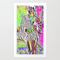 Raver Dust and Runway Lust Art Print