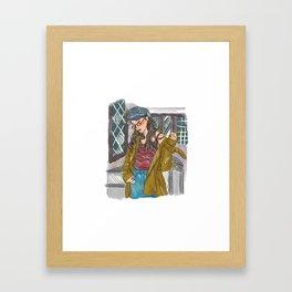 Jejudo Girl Framed Art Print