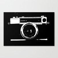 camera Canvas Prints featuring Camera by Maressa Andrioli