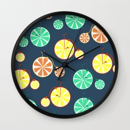 Fruity bikes Wall Clock