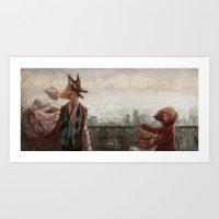 werewolf Art Prints featuring Werewolf by Yuko Fukushima