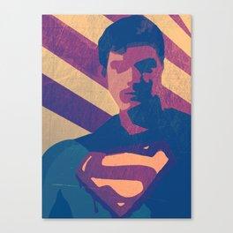 Retro Superman Canvas Print
