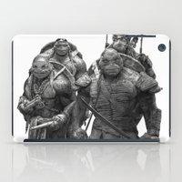 teenage mutant ninja turtles iPad Cases featuring Green Teenage Heroes  by Julio Lucas