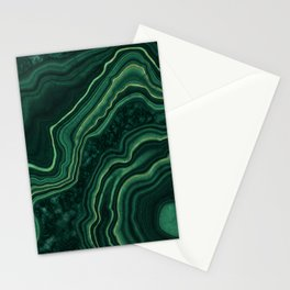 Malachite Texture 05 Stationery Cards